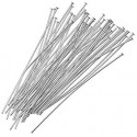 Silver Plated Headpins Jewelry Findings 25mm