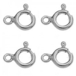 Spring Ring Clasp Sterling Silver 2mm