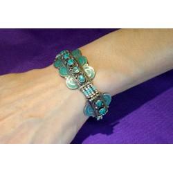 Handmade Bracelet White Metal Nepal.