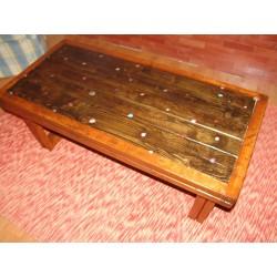 Handmade coffeetable with fixed Semiprecious stones