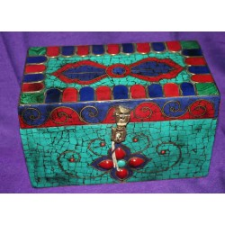 Wooden Box with Semiprecious stones