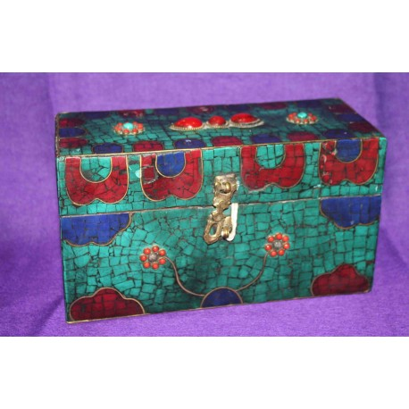 Wooden Box with Semiprecious stones