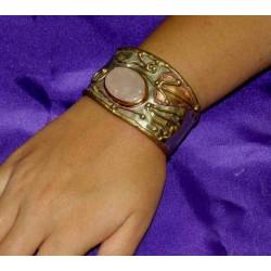 Bronze bracelet with Semiprecious Stone