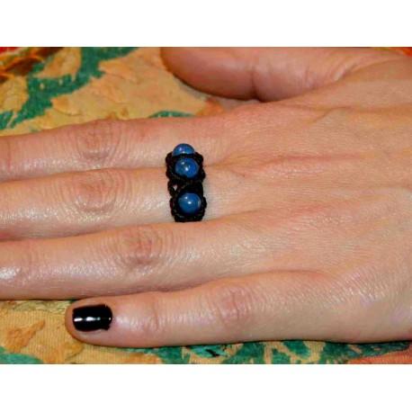 Μακραμέ Δαχτυλίδι με Ημιπολύτιμες Πέτρες - Atma Ethnic Arts 19de0427998