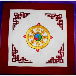 Embroidered Pillowcase from Nepal.