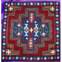 Embroidered Wool Pillowcase from Nepal.