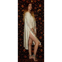 Silk Kurta Caftan Dress From India