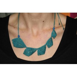 Macrame Leaves Necklace