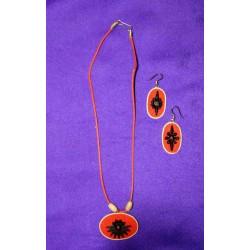 Σέτ κολιέ / σκουλαρίκια απο Ινδία