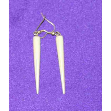 Bone earrings from Nepal
