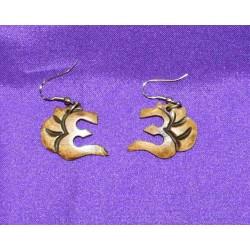 Bone earrings from Nepal