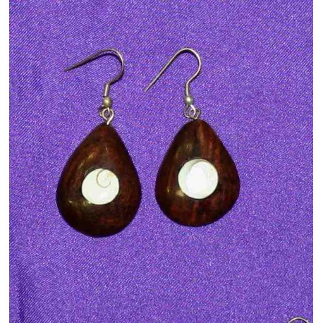 Wood earrings from India