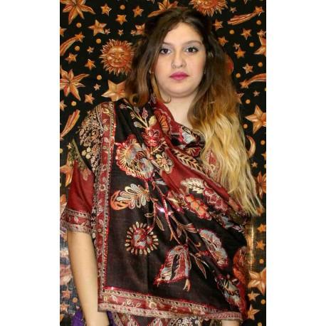 100% Silk Shawl from Nepal