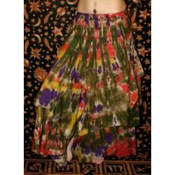 Boho Tie Dye Long Skirt Free Size