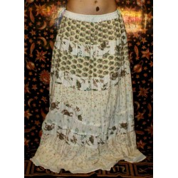 Cotton Long Boho Skirt from India