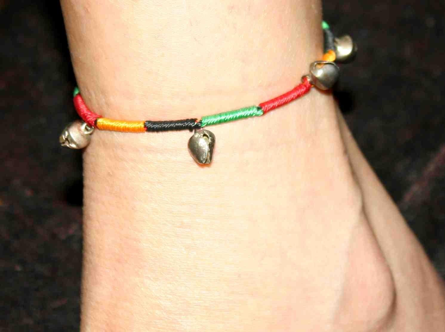 Silk Thread Ankle Bracelet Atma