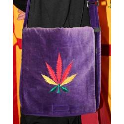 Τσάντα ώμου Βελούδινη από Νεπάλ