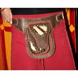 Leather Waist bag / Money Belt