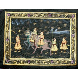 Painting on Silk .
