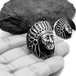 Indian Chief Head Ring