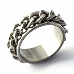 Turning Chain Stainless Steel Ring