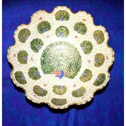 Brass enamel plate