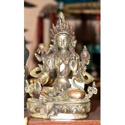 Bronze statue Green Tara