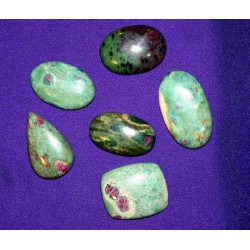 Ruby Zoisite Cabochons