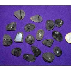 Turmalinated Quartz Tumbled Stone