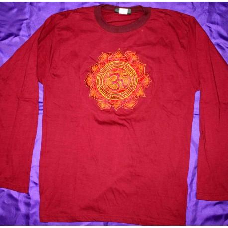 T-Shirt Κεντημένα Μακρύ Μανίκι