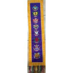 Κεντημένη παντα με τα 8 Ιερα συμβολα του Βουδισμου για τοίχο