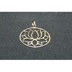 Bronze pendant Lotus from India .