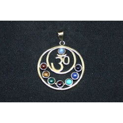 Bronze pendant Om 7 chackra from India .