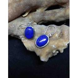 Lapis Lazuli Handmade Earring in Silver