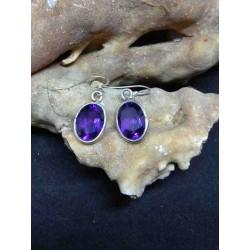 Amethyst Handmade Earring in Silver