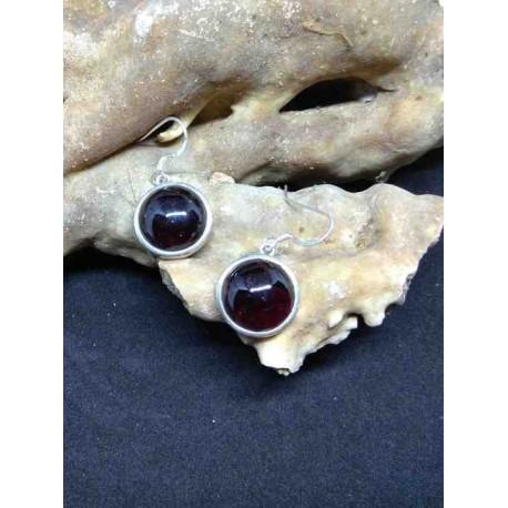 Garnet Handmade Earring in Silver