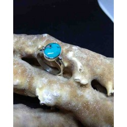 Turquoise Handmade Silver 925 Ring from India