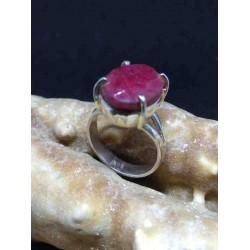 Ruby Handmade Silver 925 Ring from India