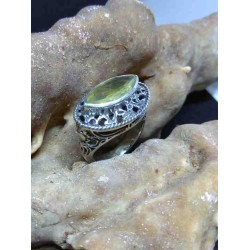 Citrine Handmade Silver 925 Ring from India