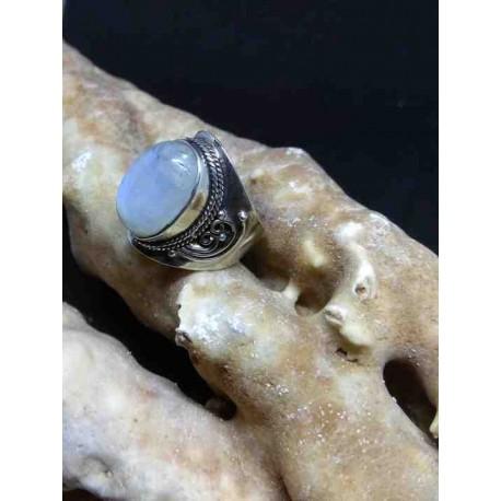 Φεγγαρόπετρα Δαχτυλίδι Ασημένιο Χειροποίητο από Ινδία - Atma Ethnic Arts 4b71b77dc68