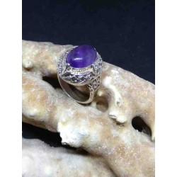 Amethyst Handmade Silver 925 Ring from India