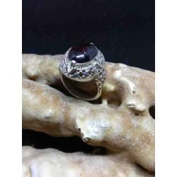 Garnet Handmade Silver 925 Ring from India