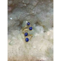 Lapis Brass Handmade Ring From India