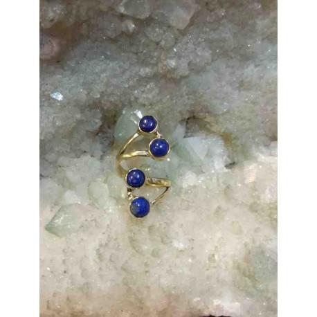 Lapis Brass Handmade Ring From India