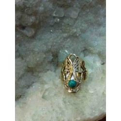 Turquoise Brass Handmade Ring From India