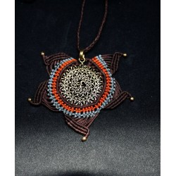 Macrame Necklace Om
