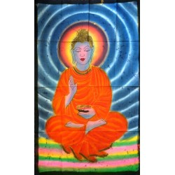Lord Buddha Βatik Painting from India.
