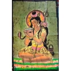 Σίβα Ζωγραφική Μπατίκ σε Υφασμα απο Ινδία