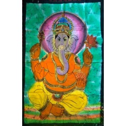 Lord Ganesha Βatik Painting from India.