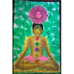 Chakras Βatik Painting from India.
